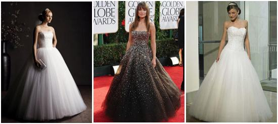 Now, I love this dress on the left, which is the original by Reem Acra  named Olivia Wilde