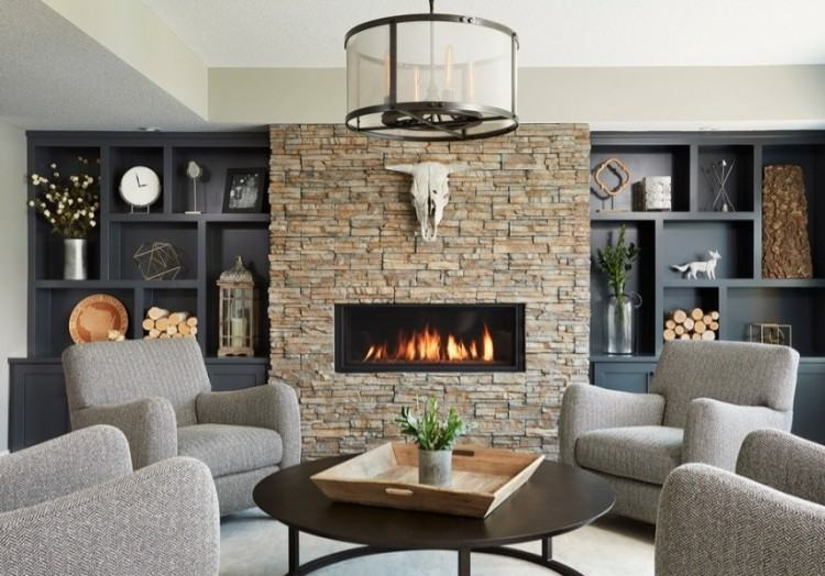 View in gallery Lovely neutral color scheme gives the sunken living area a  serene vibe