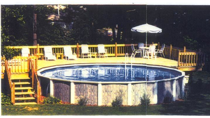 Swiming Pools Above Ground Pool Deck Design With Pool Spa Also Pool Slide  And Wooden Fence Besides Hand Rails Above Ground Pool Deck Wooden Deck  Flooring