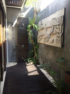 This exotic outdoor shower is located in a Bali resort