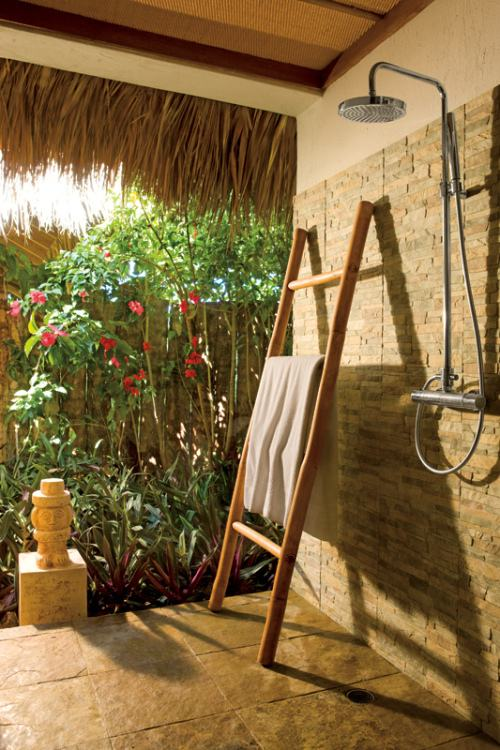 Traditionally outdoor showers were associated with tropical resort living