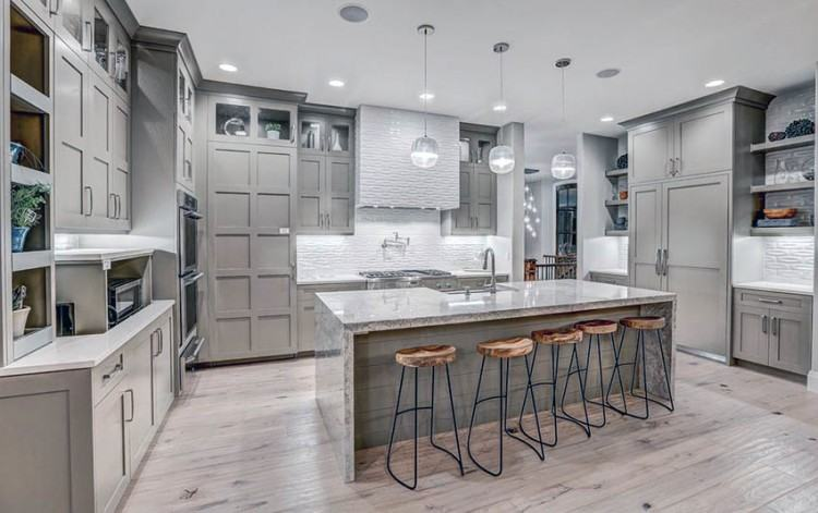 Gorgeous Grey White Kitchens Mix Kitchen Cabinets Gray Walls Floors  Countertops Brown Wall Color Light Backsplash Countertop Blue Dark Granite  Wood Floor