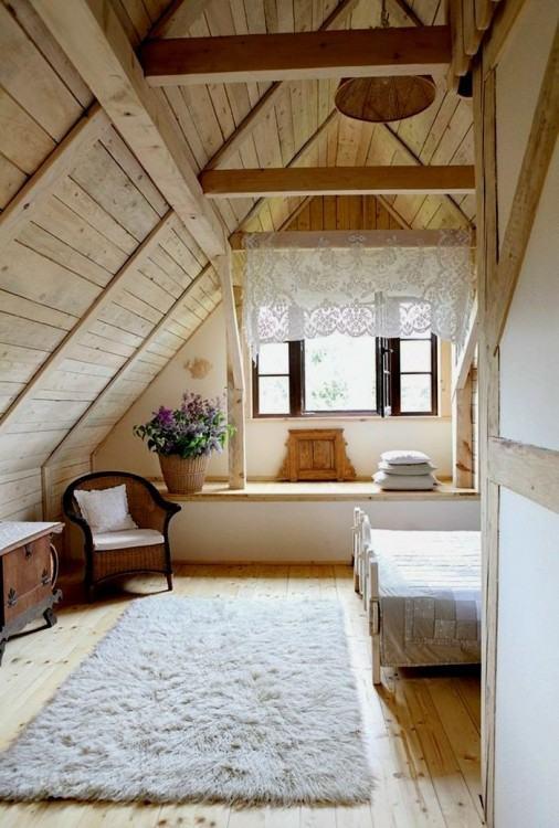 Small attic style house design