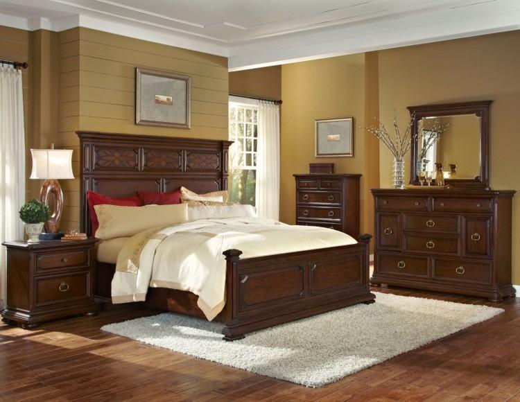 Elegant cream and grey styled bedroom