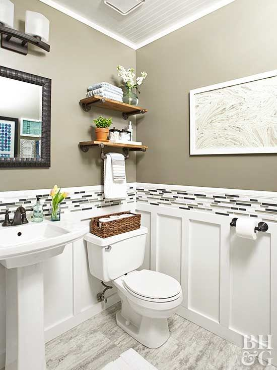 Discover inspiration for your  bathroom remodel, including colors, storage, layouts and organization