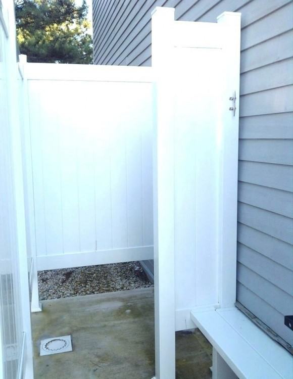 pvc outdoor shower simple outdoor shower cottage life ideas outside  building bathroom category with post surprising