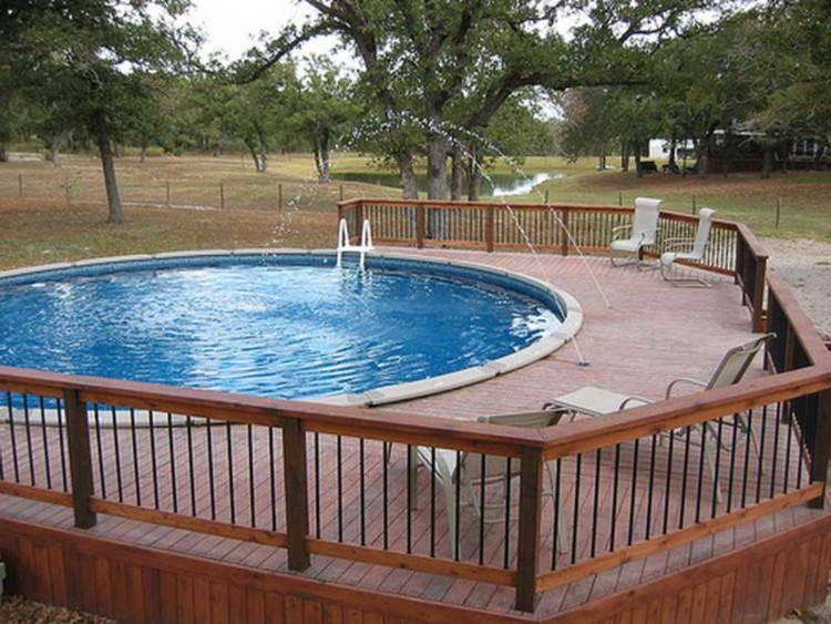 Rectangle Above Ground Pool With Deck Above Ground Pool Ideas Above Ground  Oval Pool Deck Plans Prefab Pool Decks Above Ground Pool Rectangle Above  Ground