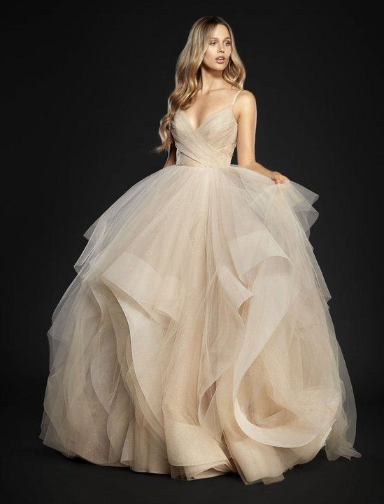 If you want to look like the  quintessential bride but with a little something extra, this is the  showstopper to peek at