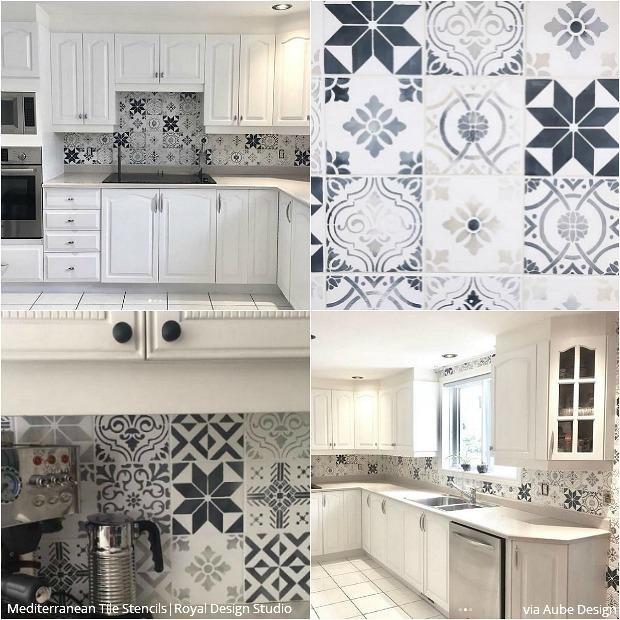 kitchen stencils backsplash kitchen stencils 5 modern kitchen stenciled  tile stencil home design kitchen tile backsplash