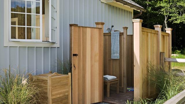 outdoor shower ideas easy simple hose fed portable houzz ou