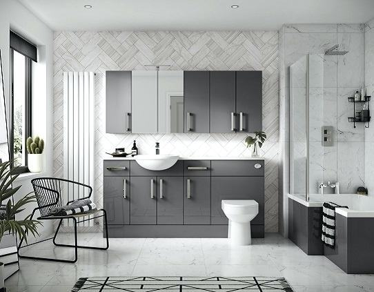 Grey Bathroom Designs Photo Of Well Modern Grey Modern Bathroom Ideas  Grey Bathroom Photos | Large