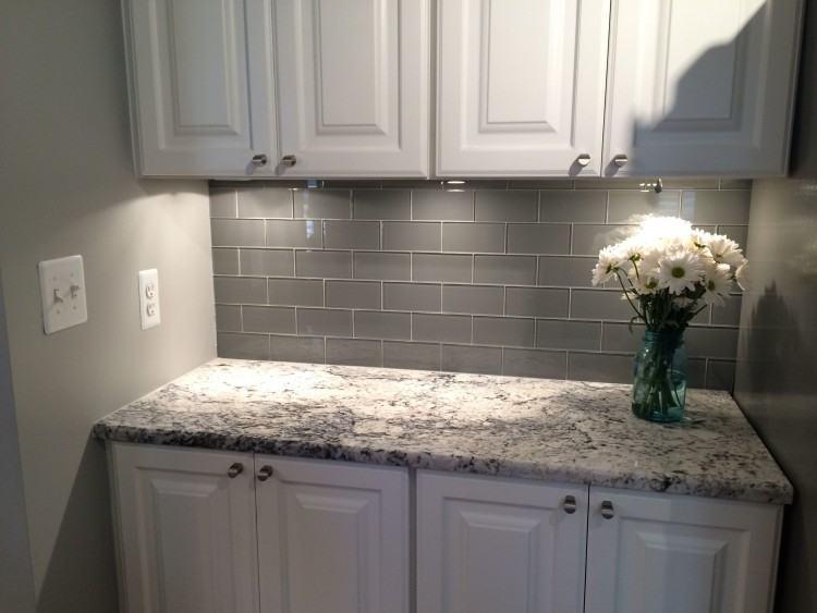 Wave to Flush: Kitchen Backsplash Ideas for White Cabinets Black Countertops  for Household Designs andino White Granite Diamond White Beveled Matte  Finish