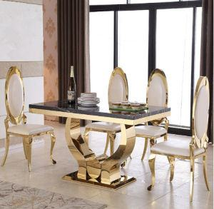 This striking dining table will  leave