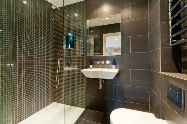Use glossy tiles in a tone to reflect the  light