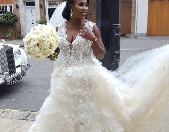 For sale is my beautiful designer wedding dress, the dress bodice is  encrusted and hand made with Swarovski crystals and a seperate skirt I paid  £4000 for