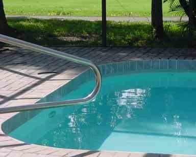 An integrated pool is a popular option for new home construction