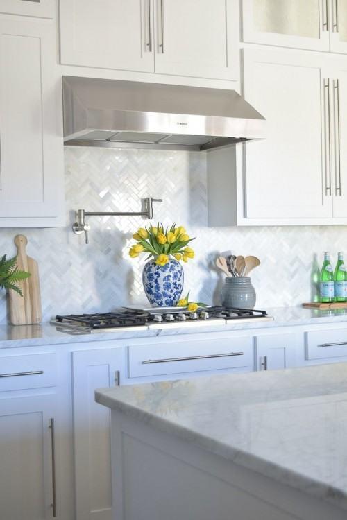 natural  stone kitchen backsplash ideas easy