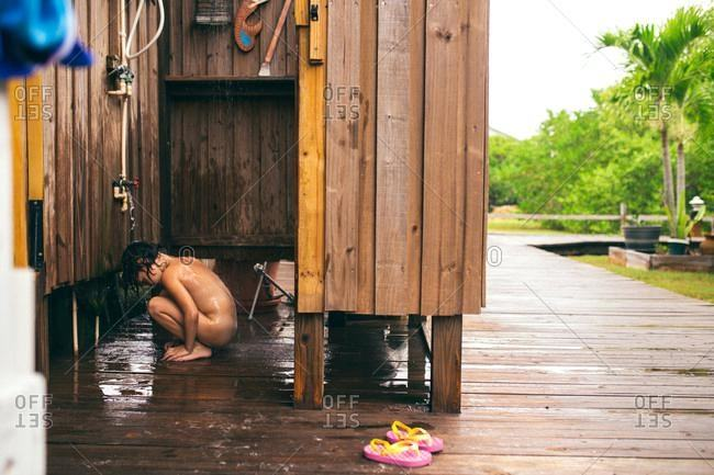 beach outdoor shower