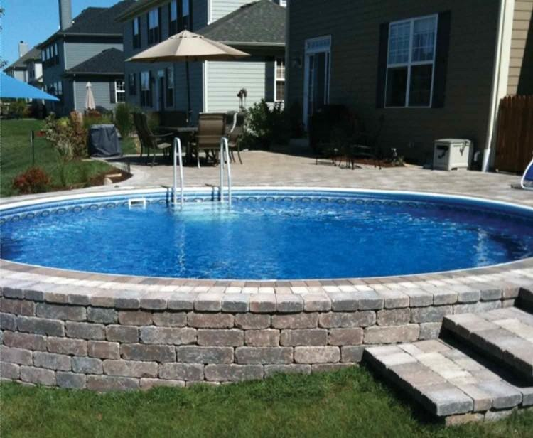 Outdoor : Above Ground Pool With Deck Images Above Ground Pool with Deck  Decks For Above Ground Pools' Pool Deck Plans' Pool Deck Designs along with