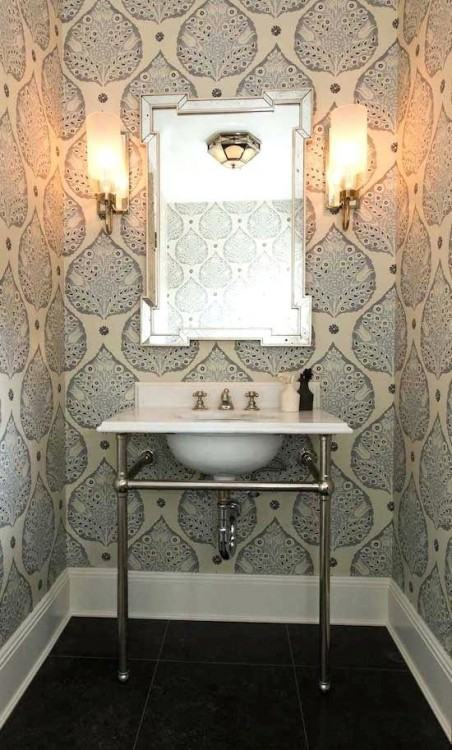 wallpaper in bathroom ideas amazing wallpaper bathroom idea top best small  on half with design suitable