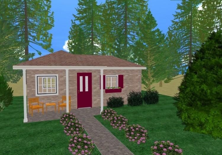 one story brick house