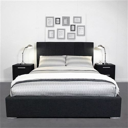 This Light Wood Queen Size Charcoal Bed From Vilas Will Add a Stylish Look  to Your Bedroom with a Distressed Rustic Touch