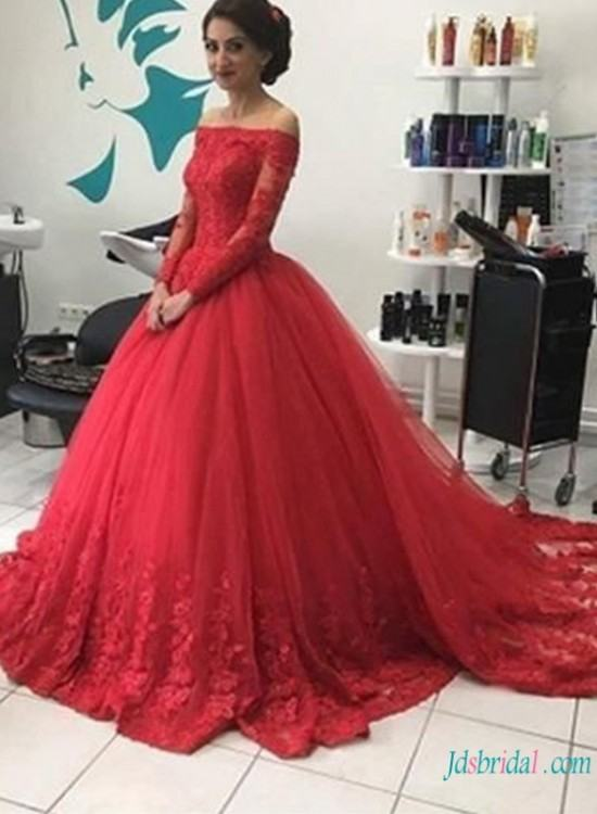 This dark red dress is Back of Long high neck mermaid lace burgundy evening  dress