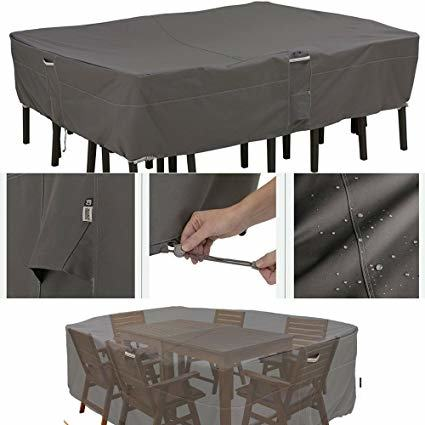patio table ideas furniture heavy duty with teak set covers