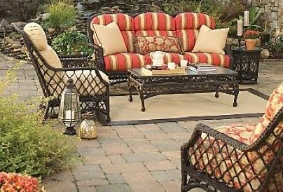 Wisteria Lane Outdoor patio furniture sets, 7 PC Wicker Sofa Set Garden  Rattan Sofa Cushioned Seat