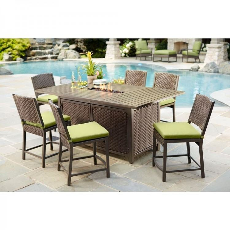 Patio, Outdoor Patio Table Sets Patio Dining Sets A Set Of Dining Table  On The