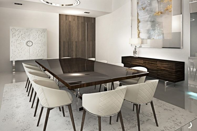 Inspirational Contemporary Dining Room Designs With Double Chandelier Over Luxury  Dining Sets As Well As Dome Door Frames In Luxury European Dining Room