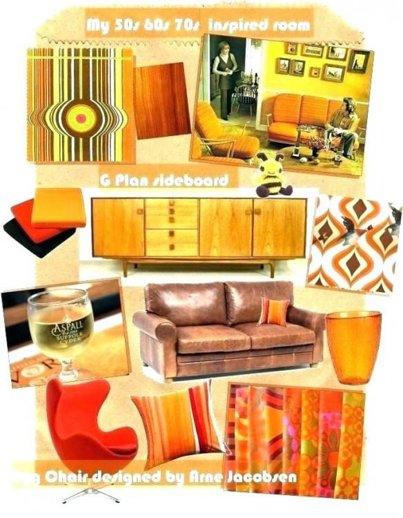 room decor that show 70s style