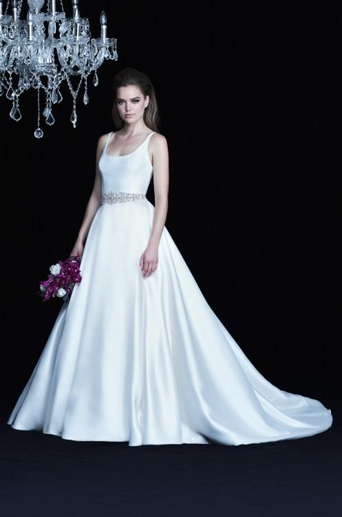Motee Maid bridesmaid dress in Amelia dress with petal embellished top and  delicate straps