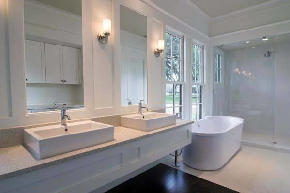 white cabinet bathroom ideas master bathroom with white marble counters  blue and white master bathroom small