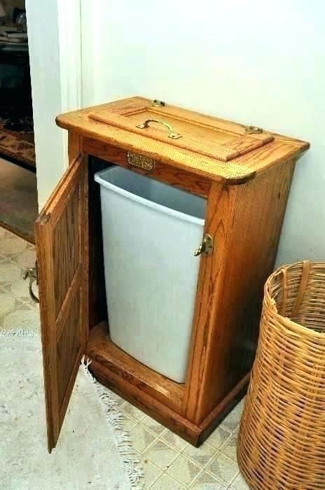 garbage storage ideas best can on outdoor trash rustic kitchen attractive
