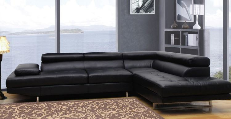 com: Roundhill Furniture Marinio Chocolate Faux Leather Left Chaise  Sectional Sofa: Kitchen & Dining