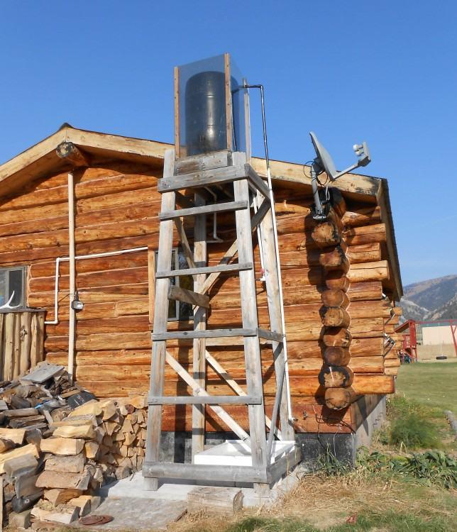 outdoor shower water