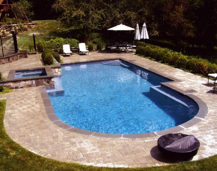 fiberglass pools nj ideas pool small backyard designs