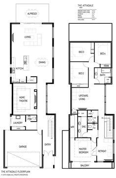 Small Lot House Plans Two Story Brisbane Narrow Two Story House Plans  Google Search