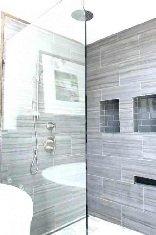 bathroom shower tiles grey shower tile gray shower tile ideas gray subway tile  shower photo 2