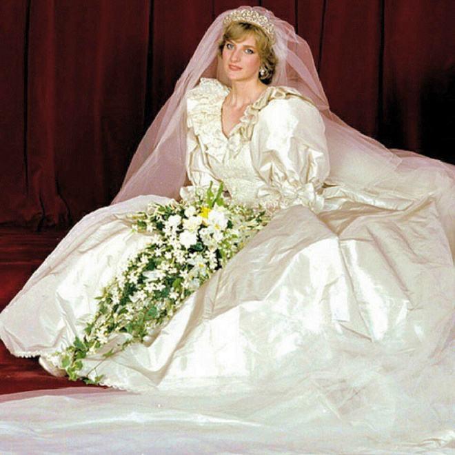 My granny in her wedding dress, 1981