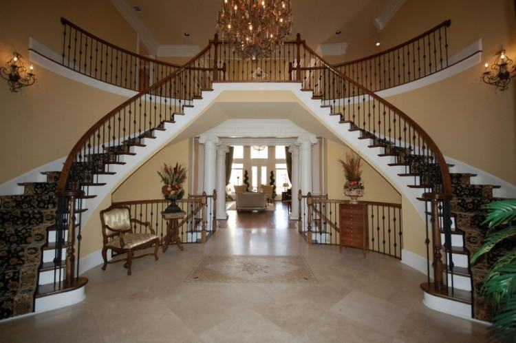 Double Staircase  House Grand Foyer Floor Plan For Sale