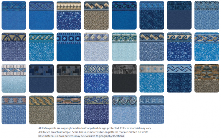 Plus, the Pool Builders Supply Vinyl Liner pattern selection offers a  variety of designer patterns to suit any poolscape and backyard