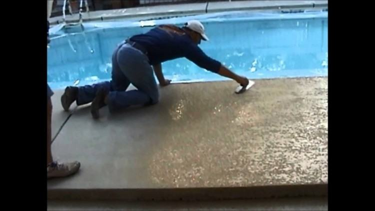 STEP# 12: Cement decking is poured around the swimming pool