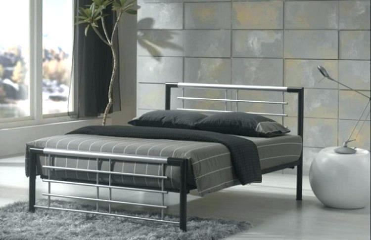 Full Size of Bedroom Metal Frame Bed Steel Bed Frame Designs Double Bed  Frame No Headboard