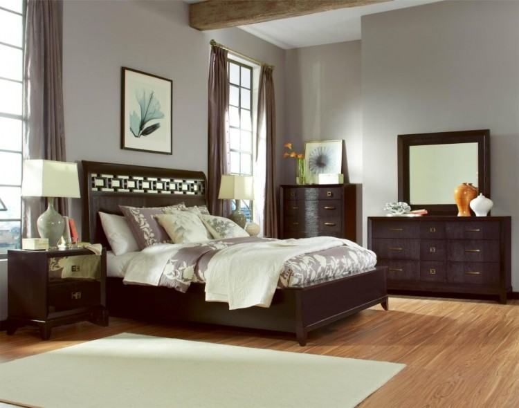 Poster Bedroom Set w Metal Canopy & Leather Headboard Queen and King Beds