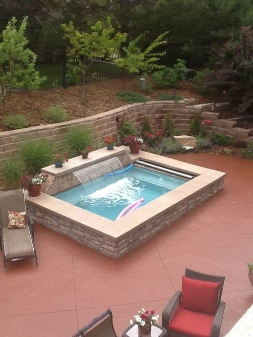 Contemporary Indoor Pool And Hot Tub With A Slide Bathroom Accessories  Decor Ideas Of Indoor Pool