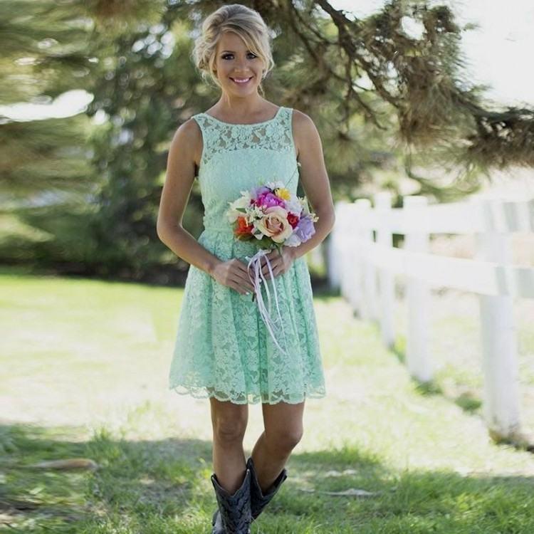 printed country bridesmaid dresses