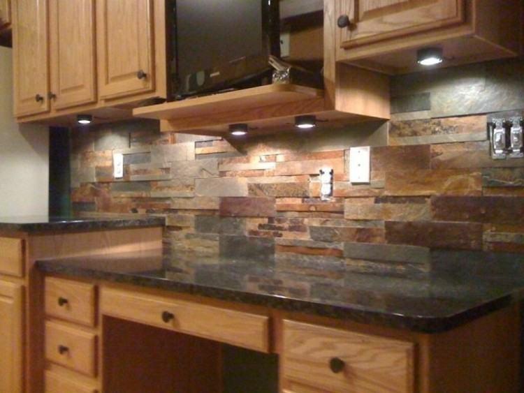 stone kitchen backsplash ideas stone tile kitchen