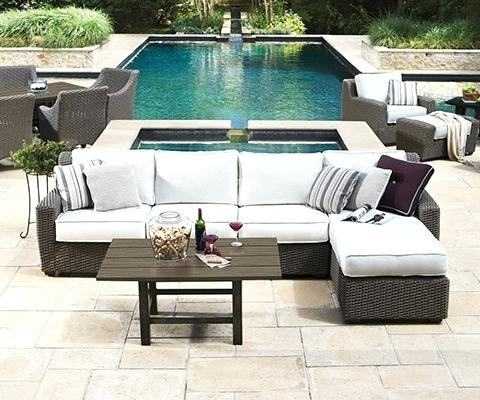 Full Size of Wicker Patio Furniture Loungers Halsted 4 Piece Set Threshold  Collection White Outdoor Chair
